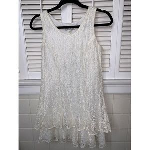 Vintage Sheen White Lace Dress